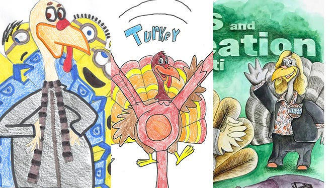 Some of the winning turkeys in this year's contest.