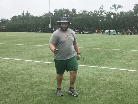 FAMU assistant strength and conditioning coach, Matthew