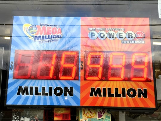 The electronic Powerball sign in front of Shepherd's