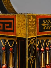 A close-up view of a sideboard from the Waln drawing rooms.