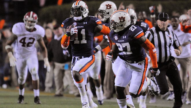 A return of a missed field goal by Auburn defensive back Chris Davis created major changes to this week's bowl projections.