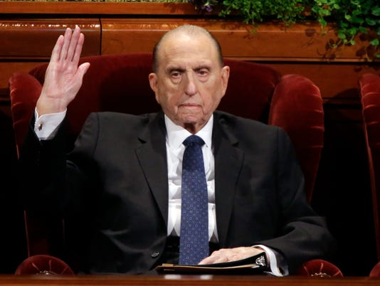 AP OBIT THOMAS MONSON A REL FILE USA UT