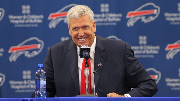 Bills coach Rex Ryan danced around questions about LeSean McCoy's comments and Ryan's recent dinner with undrafted free agent offensive lineman La'el Collins.