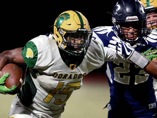 Canyon del Oro running back Elijah Carey.
