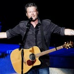 Blake Shelton performs at the Marcus Amphitheater on the third day of Summerfest.