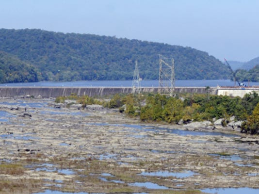 The Holtwood dam spans the Susquehanna River in southern York County.