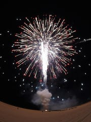 The Fourth of July festivities were capped off in the evening by fireworks on the beach.