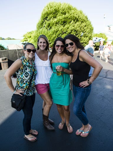 Zac Brown Band performed at Riverbend Music Center, joined by opening act Clay Cook. Stephanie Herbert of Blue Ash, Charlene Dusing of N. KY. Tiffany Fielding of Hyde Park and Karla Langworthy of N. KY.