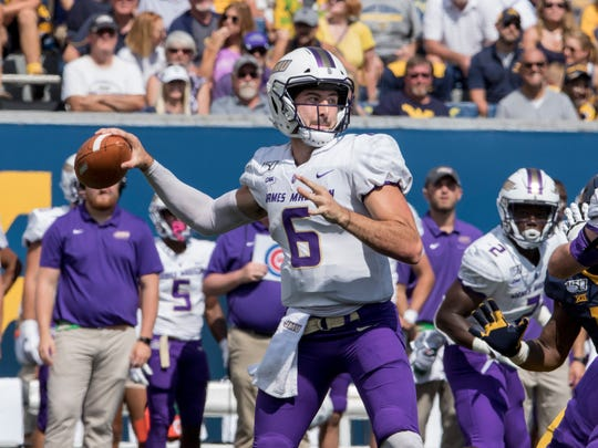 James Madison quarterback Ben DiNucci was named the Colonial Athletic Association Offensive Player of the Year. Newark Catholic graduate Shane Montgomery is the Dukes' offensive coordinator and quarterbacks coach.