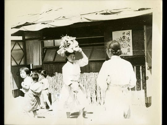 A family scene in Paju-ri, Korea, 1953, taken by Lt.