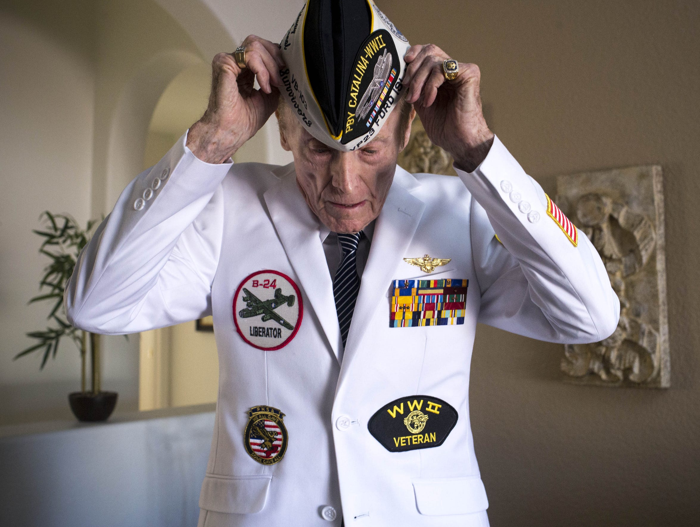 A portrait of Pearl Harbor survivor Jack Holder in