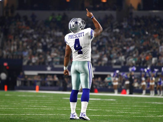 Dallas Cowboys quarterback Dak Prescott set a NFL record