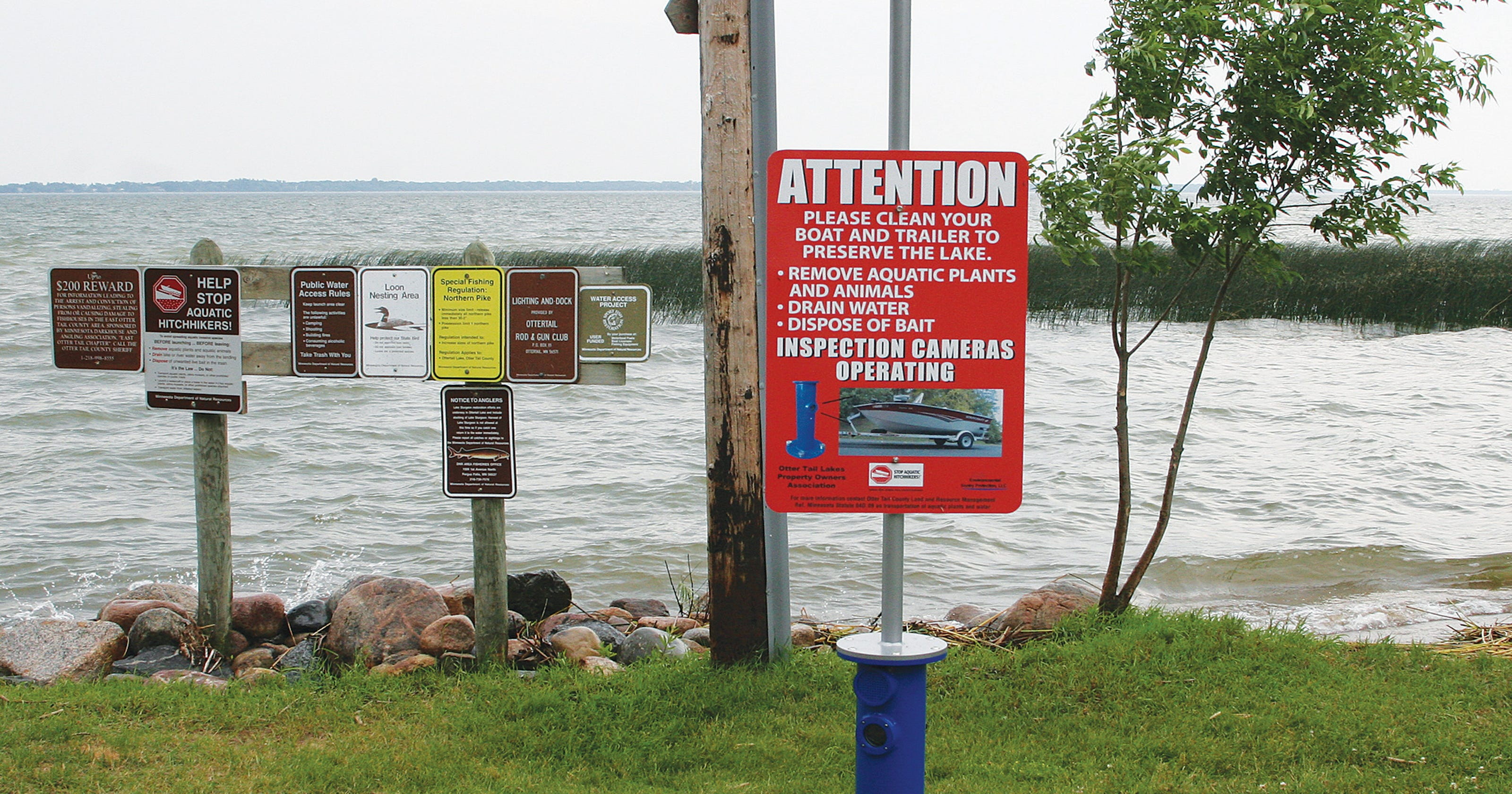 Automated boat inspection systems in place at Otter Tail Lake