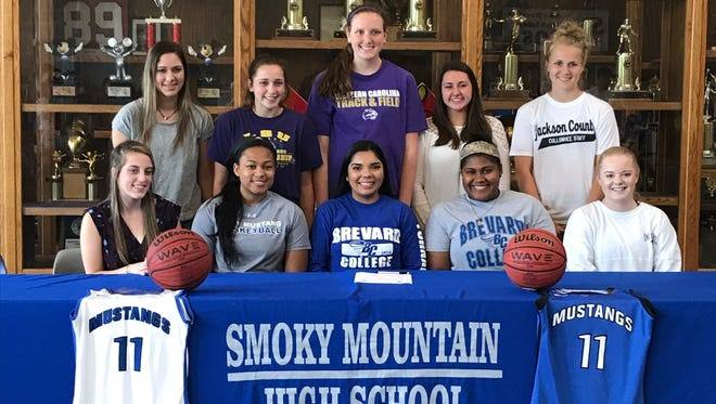 Smoky Mountain senior Taryn Ledford has signed to play basketball for Brevard College.