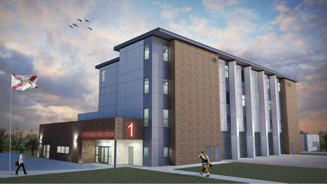 A concept of Fire Station No. 1 at 2033 Jackson St.
