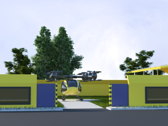Renderings of a new Pensacola startup business' flying