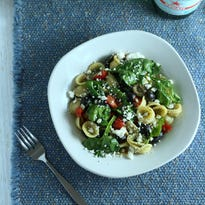 If you love cherry tomatoes, this pasta salad is a delicious way to incorporate many of them at once.
