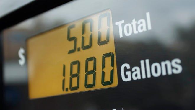 Screen of gas pump, close-up