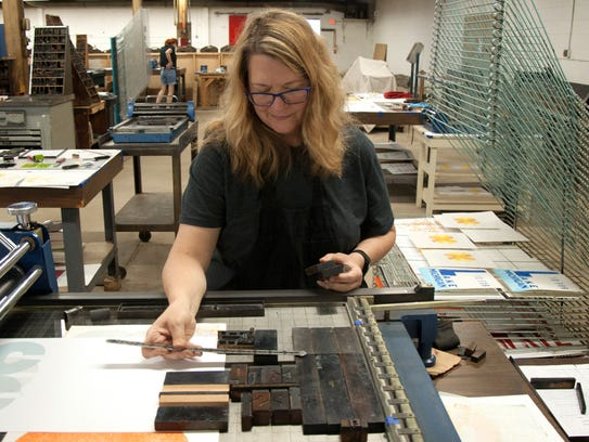 A workshop at the Hamilton Wood Type & Printing Museum