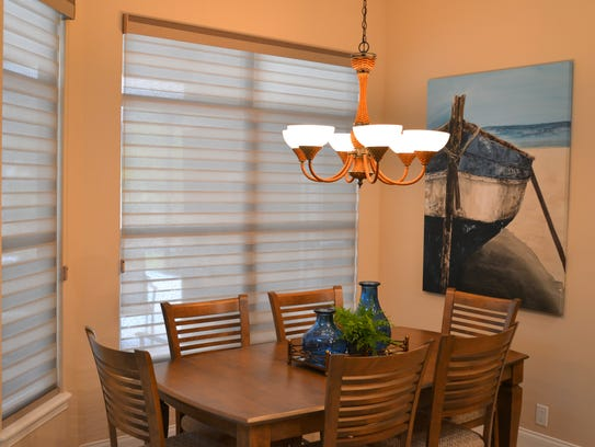 The dining area has been made more inviting. Tim and