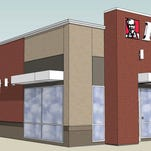 This rendering shows the new KFC to be built in Hartland Township this year.