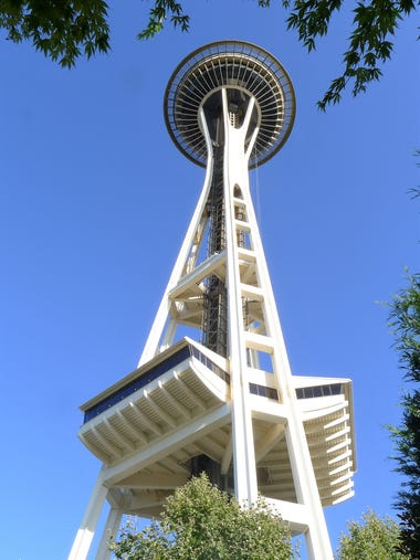 Seattle's iconic, space-age inspired Space Needle marks