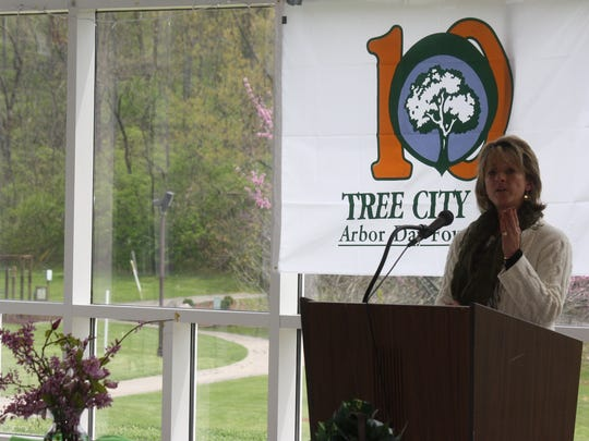 Jenny Gulick, a natural resource consultant for Davey Resource Group, talks about preserving urban forests and the city of Southgate's efforts to plant and preserve trees.