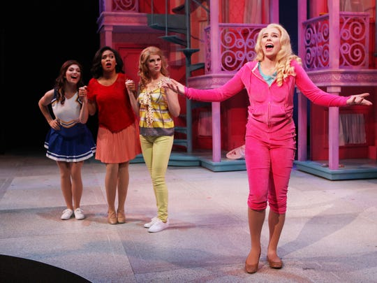 "It was just 18 months ago that Sarah Bishop (R) played the leading role of Elle Woods in the College-Conservatory of Music production of ""Legally Blonde"" at the University of Cincinnati."
