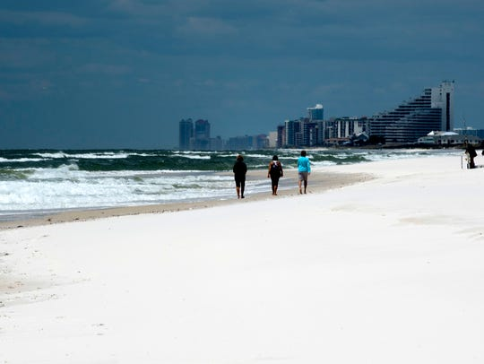 Visitors to Perdido Key are being asked to remove personal