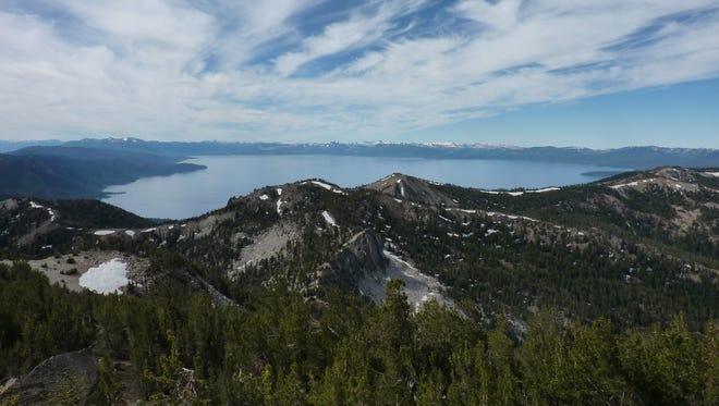 Lake Tahoe from the Tahoe Rim Trail near Relay Peak.