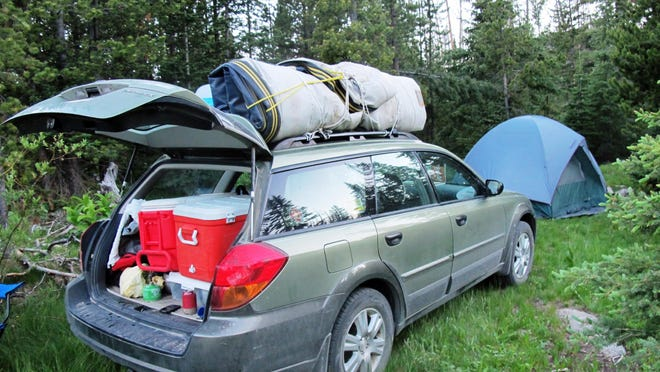 Campers have an option known as dispersed camping when campgrounds are full. There are no picnic tables, fire rings, potable water or toilets, like this site in the Helena National Forest in Montana.