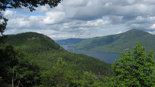 A rewarding hike offers vistas of French Mountain and Black Mountain.