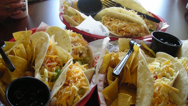 Tacos from Tijuana Flats.