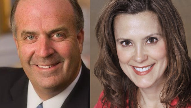 U.S. Rep. Dan Kildee, D-Flint Township, and former Senate Minority Leader Gretchen Whitmer.