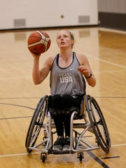 Shelby Gruss works out at the France A. Cordova Recreational