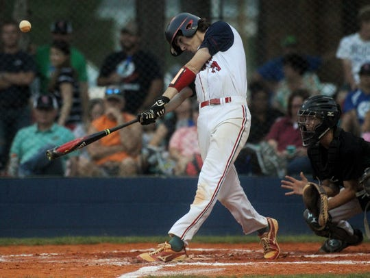 Wakulla Christian's Jacob Dismuke hit a two-run home