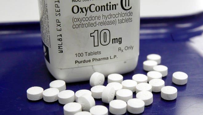OxyContin pills.