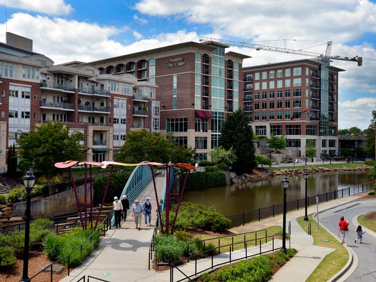 RiverPlace, downtown Greenville, SC.