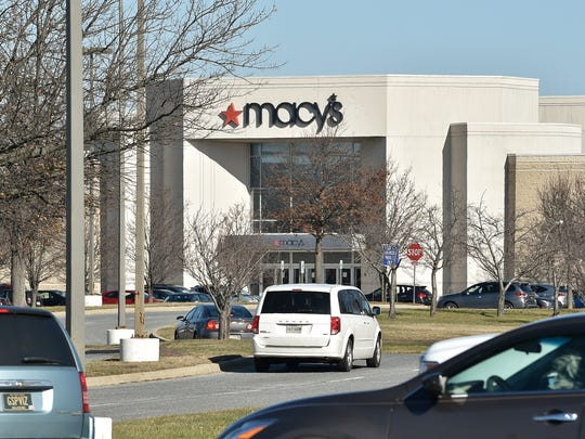 View of Macy's store front at the Dover Mall on US 13 in Dover, Del.