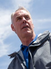 U.S. Interior Secretary Ryan Zinke, seen here during a 2017 press conference at Butler Wash southwest of Blanding, Utah, said Friday that he responded to concerns about cultural impacts when he suspended an auction of drilling permits in the Chaco Canyon area.