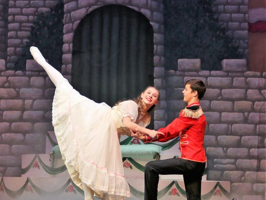 Reese Davis, playing the role of Clara, and Joe Milam,