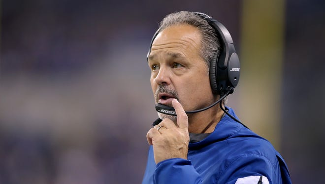Colts coach Chuck Pagano spoke with the media in Florida on Tuesday.