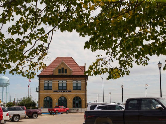 Chicago, Burlington and Quincy Railroad-Creston Station Thursday, Sept. 8, 2016, in Creston, Iowa. 
