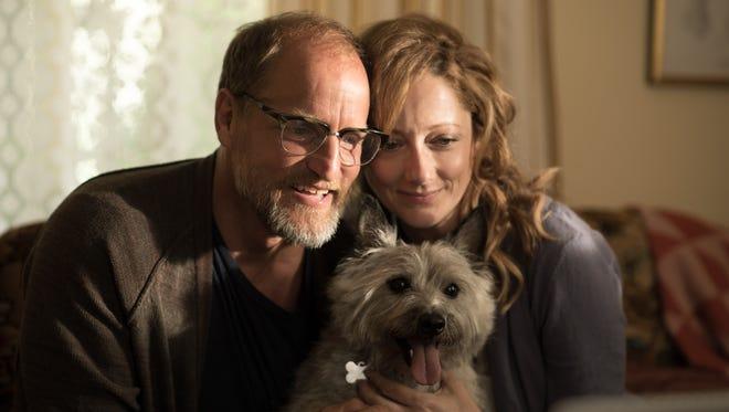 "Wilson (Woody Harrelson) has Shelly (Judy Greer) watch his dog in ""Wilson."
