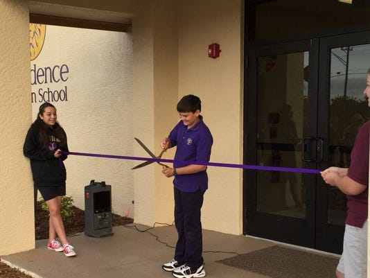 Providence Christian School ribbon cutting