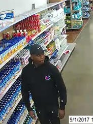 A suspect in baby formula thefts from a Wal-Mart store