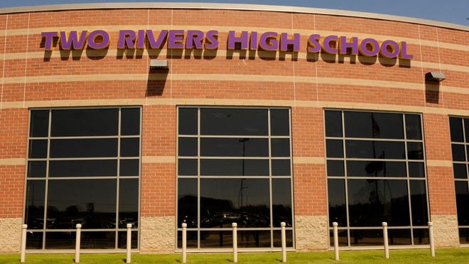 Exterior of Two Rivers High School. The Two Rivers Public School District is taking advantage of a state law allowing them to borrow outside their revenue limit for energy efficiency projects.