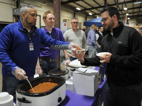 Cooks go for the title of chili champ at the United Way's Falls Chili Cook-Off Feb. 24.