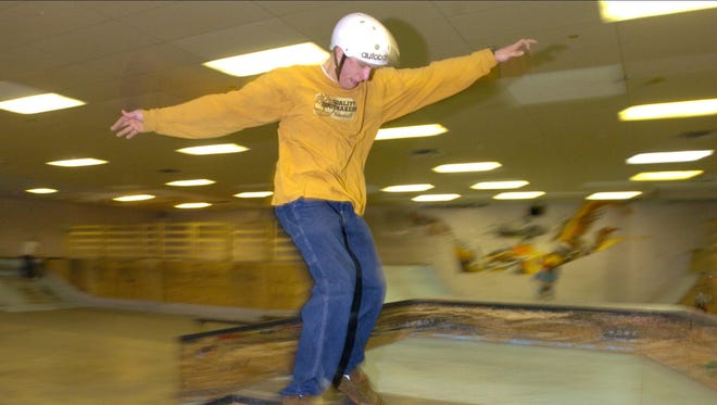 Action at Talent Skatepark in March 2005. The park was shuttered in August 2018, after operating for 15 years.