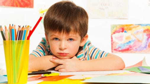The study found that preschoolers who are depressed are two and a half times more likely to continue to experience symptoms in elementary and middle school, a research team from Washington University in St. Louis said.
